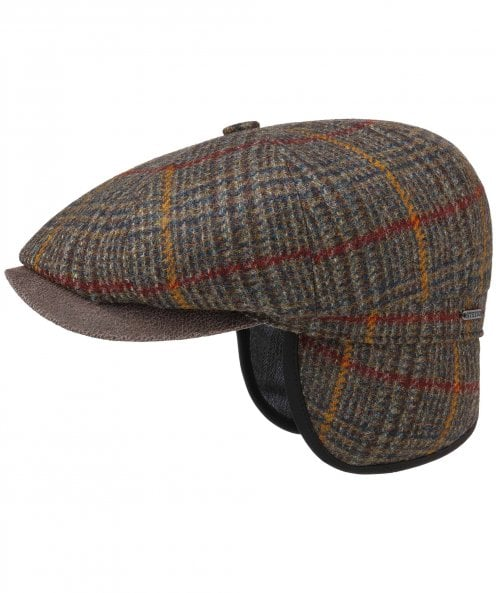 Stetson Wool Tweed Hatteras Cap