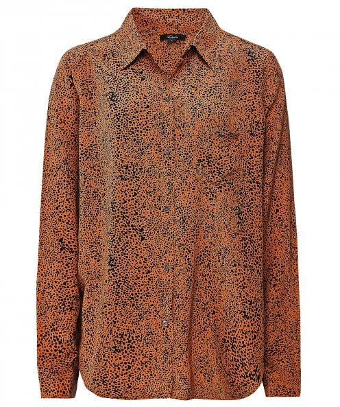 Rails Kate Silk Speckled Print Shirt