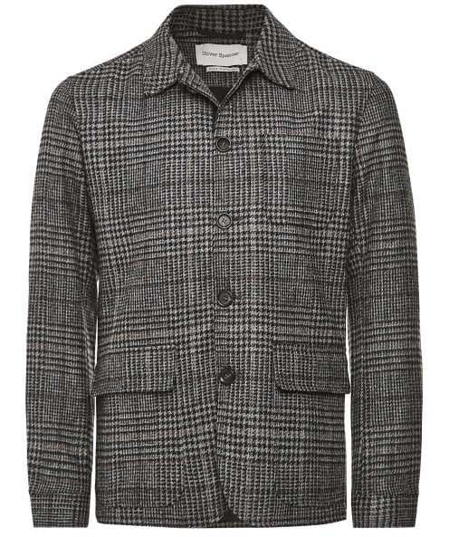 Oliver Spencer Wool Plaid Lawley Jacket