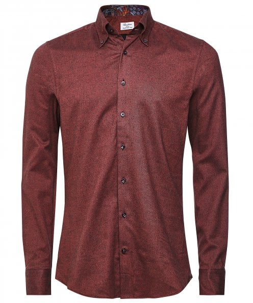 Stenstroms Slimline Flannel Cotton Shirt