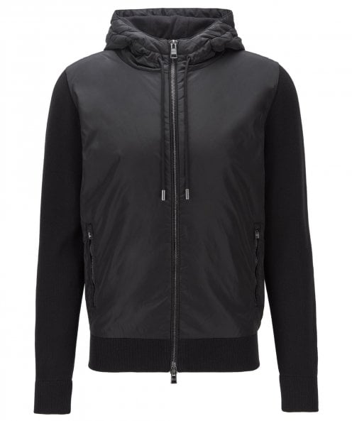 BOSS Virgin Wool Blend Hooded Mobili Jacket