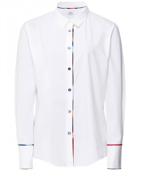 Paul Smith Cotton Stripe Trim Shirt
