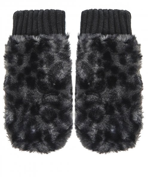 Rino and Pelle Oxo Faux Fur Knit Mittens