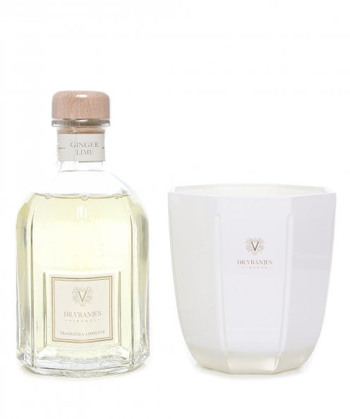 Dr. Vranjes Firenze Ginger & Lime 500ml Diffuser and Candle Gift Set