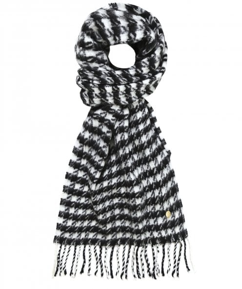 Holland Cooper Houndstooth HC Chelsea Scarf