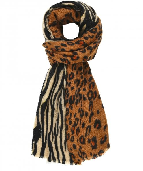 Rino and Pelle Hind Animal Print Scarf