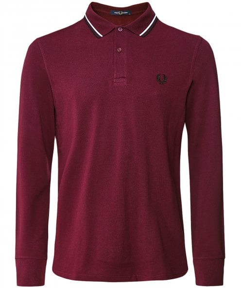 Fred Perry Long Sleeve Twin Tipped Polo Shirt M3636