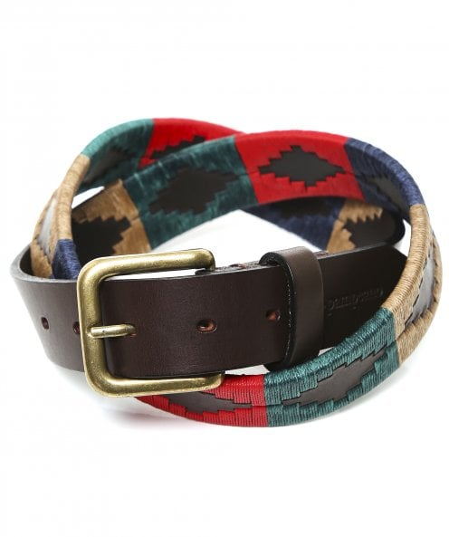 Pampeano Leather Navidad Polo Belt