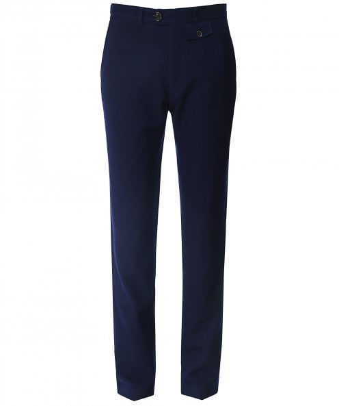 Oliver Spencer Wool Cotton Buttress Fishtail Trousers