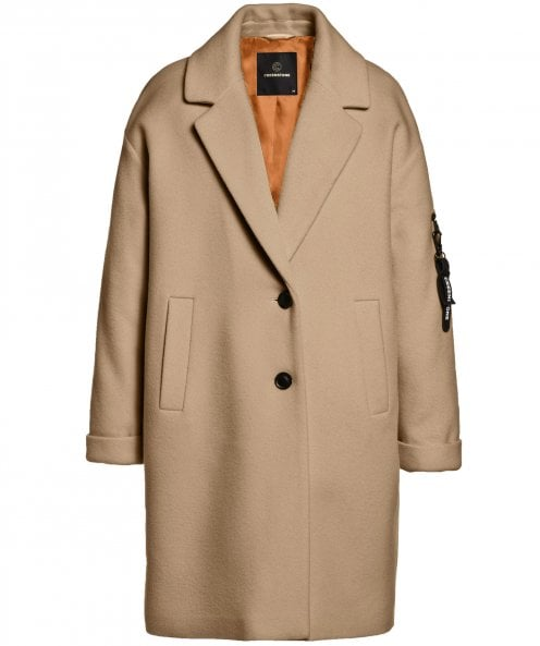 Creenstone Wool Blend Button Coat