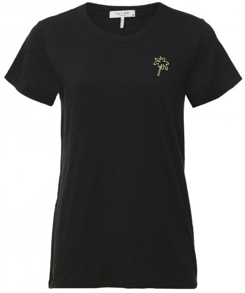 Rag and Bone Palm Tree Embroidered T-Shirt