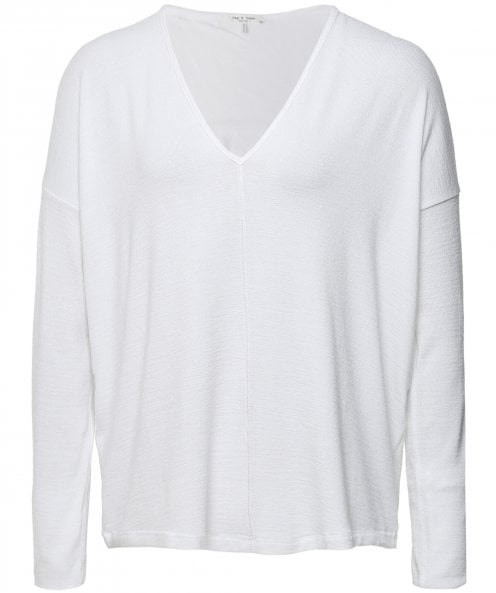 Rag and Bone The Knit V-Neck Long Sleeve Top