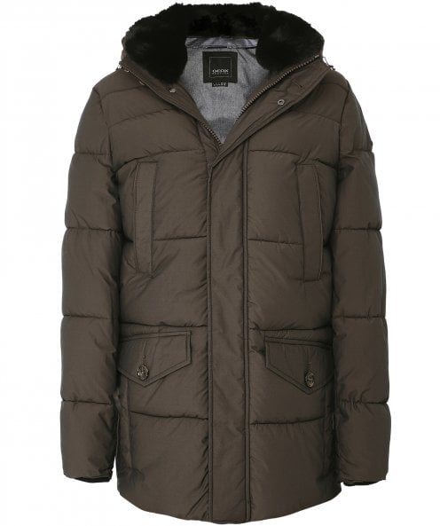 Geox Water-Repellent Faux Fur Trim Kelthor Parka