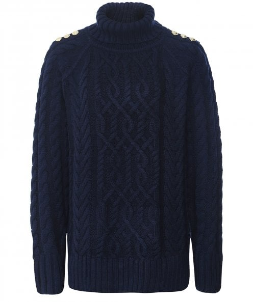 Holland Cooper Greenwich Cable Knit Jumper