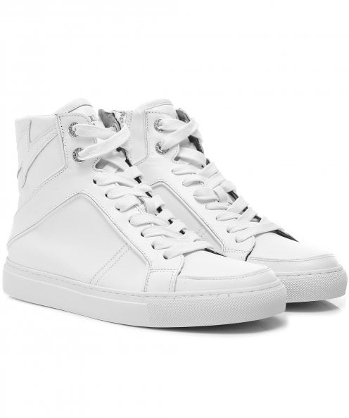 Zadig & Voltaire High Leather Flash Trainers
