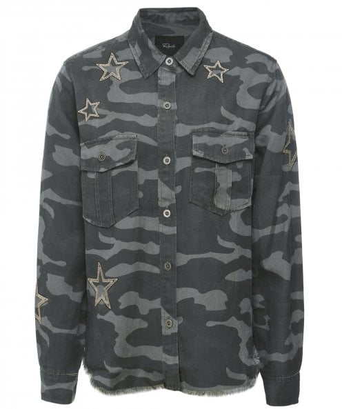 Rails Loren Camouflage Star Embroidered Shirt