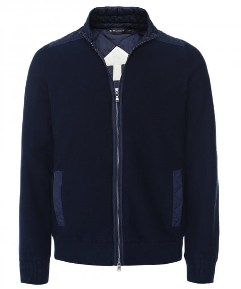 Hackett Zip-Through Hybrid Cardigan