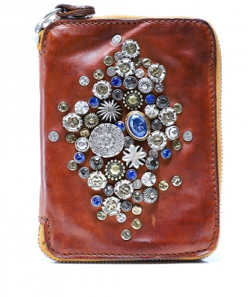 Campomaggi Small Embellished Leather Purse