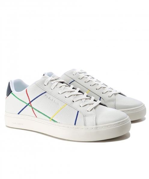 Paul Smith Leather Abstract Stripe Rex Trainers