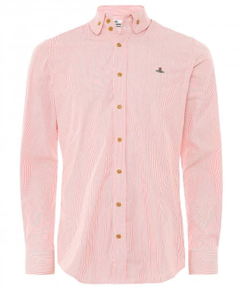 Vivienne Westwood Man Striped Two Button Krall Shirt