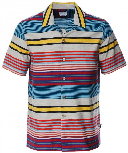 Paul Smith Casual Fit Striped Short Sleeve Shirt