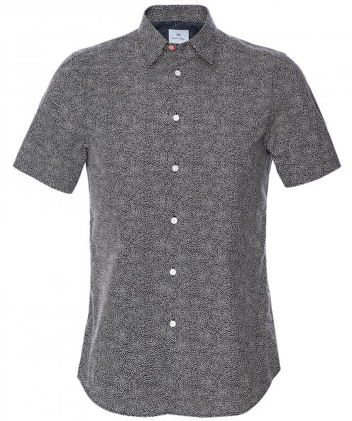 Paul Smith Tailored Fit Print Short Sleeve Shirt
