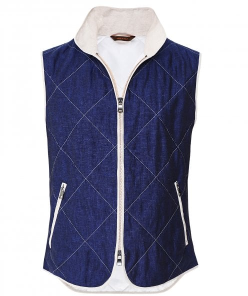 Waterville Linen Diamond Quilted Gilet
