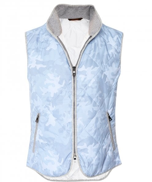 Waterville Water-Repellent Camo Quilted Gilet