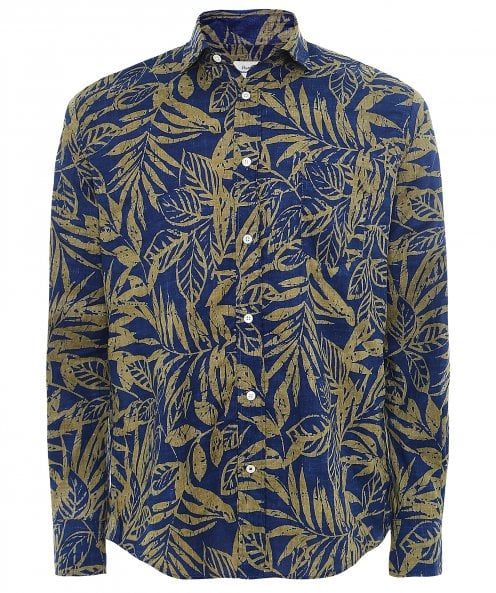 Hartford Regular Fit Leaf Print Paul Shirt
