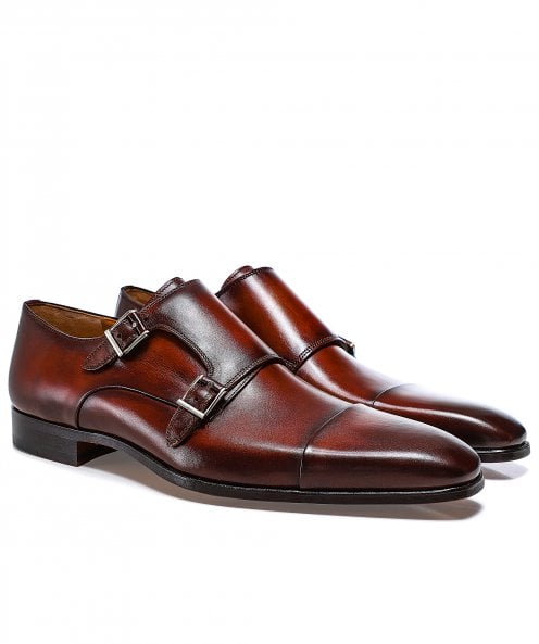 Magnanni Leather Double Monk Siros Shoes