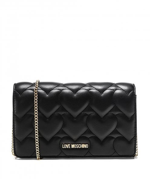 Love Moschino Quilted Heart Crossbody Bag