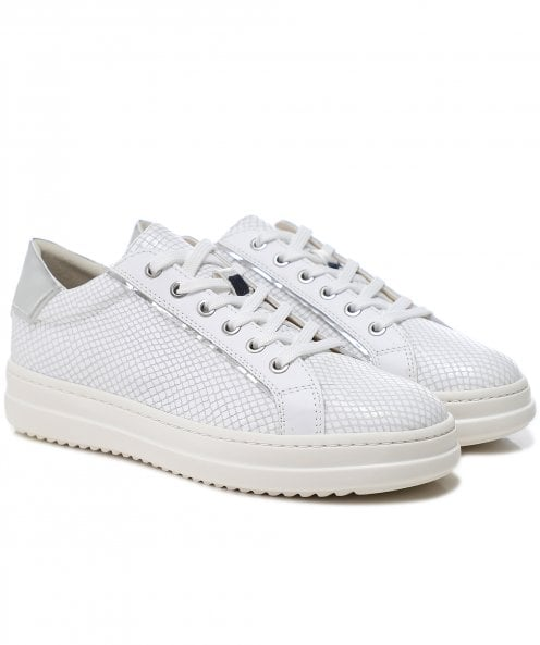 Geox Leather Snake Effect Pontoise Trainers
