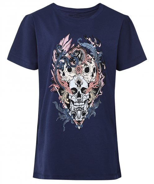 Zadig & Voltaire Compo Skull Strass T-Shirt