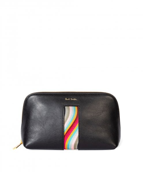Paul Smith Leather Swirl Make-Up Pouch