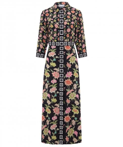 Hayley Menzies Dream In Colour Silk Maxi Shirt Dress