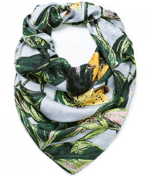 One Hundred Stars Marianne North Chilli Plant Silk Scarf