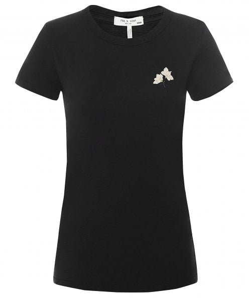 Rag and Bone Lily Flower Cotton Tee