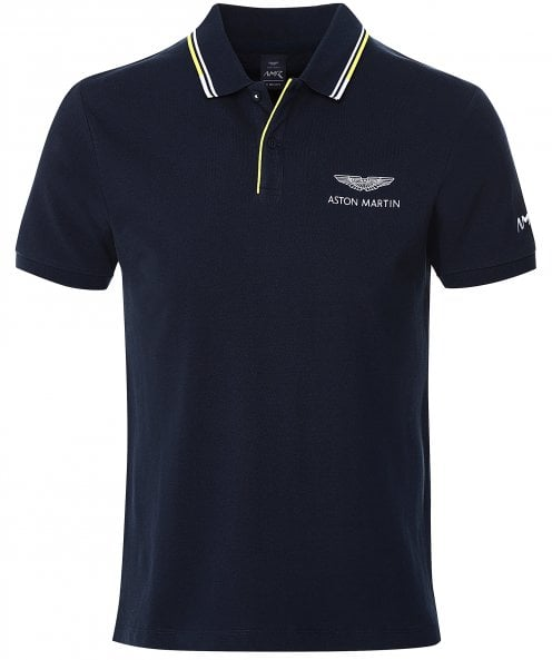 Hackett Jacquard Tipped AMR Polo Shirt
