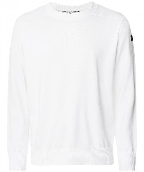 Paul and Shark Knitted Cotton Crew Neck Jumper