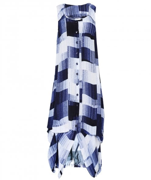 Crea Concept Abstract Print Tunic Dress