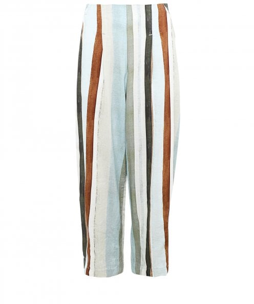 Crea Concept Stripe Linen Blend Trousers