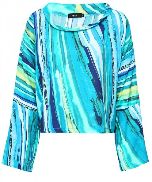 Ralston Ale Abstract Stripe Print Top