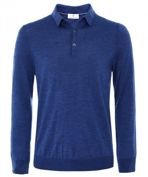 Thomas Maine Merino Wool Long Sleeve Polo Shirt