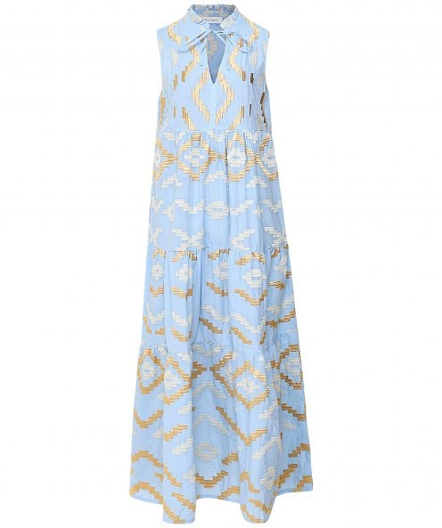Kori Rhombus Embroidered Maxi Dress