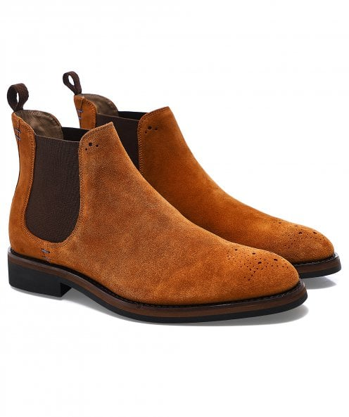 Oliver Sweeney Suede Burrows Chelsea Boots