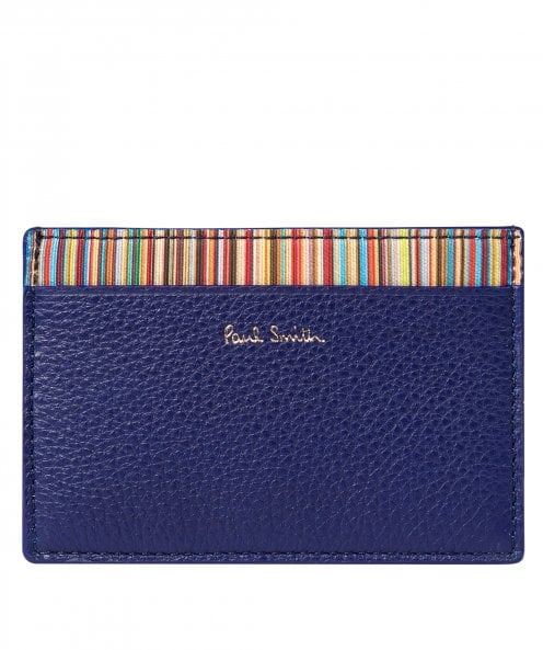 Paul Smith Leather Signature Stripe Card Holder