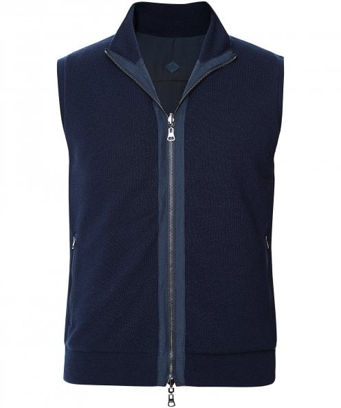 Hackett Reversible Knit Gilet