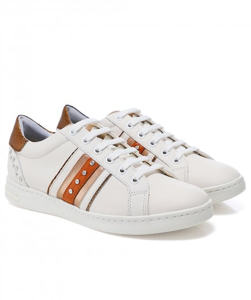 Geox Jaysen Leather Trainers