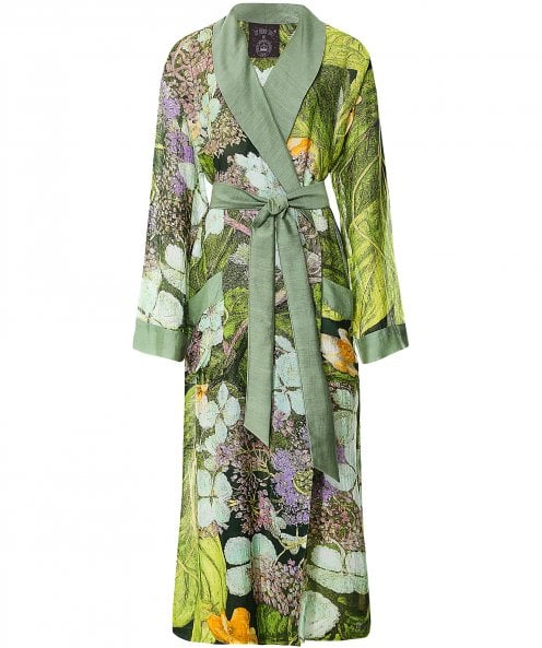 One Hundred Stars Marianne North Hydrangea Full Length Gown