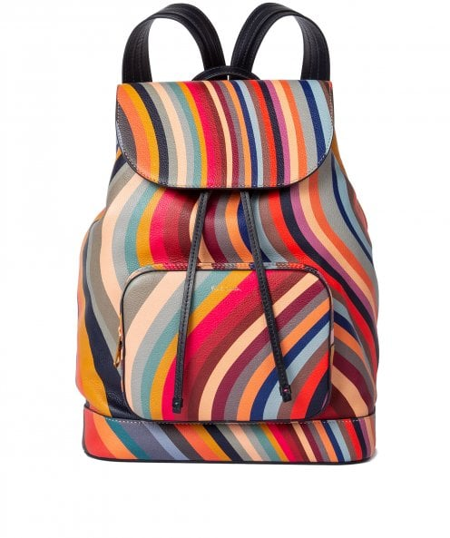 Paul Smith Swirl Print Leather Backpack